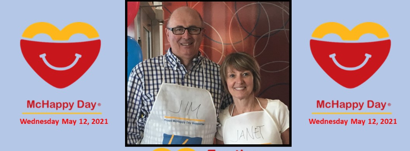 Jim and Janet 2021 Fundraising campaign supporting RMHC Family Room at Markham Stouffville Hospital