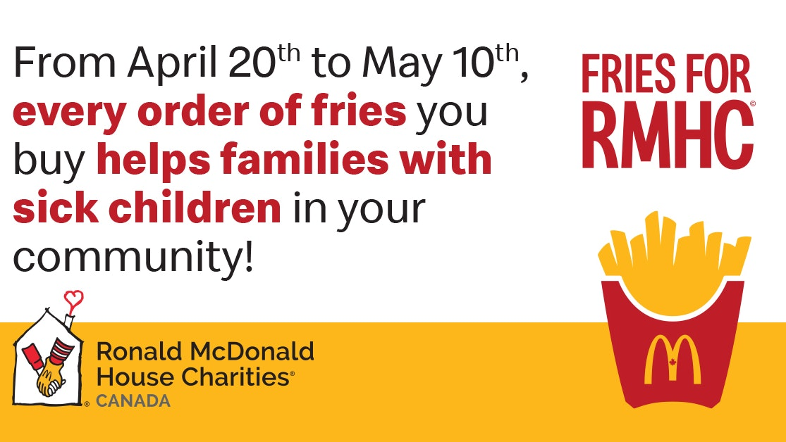Picture of Fries for RMHC and Round Up information