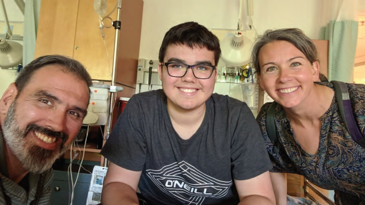 Family in hospital