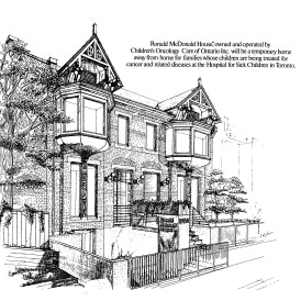 Historic first RMHC house sketch