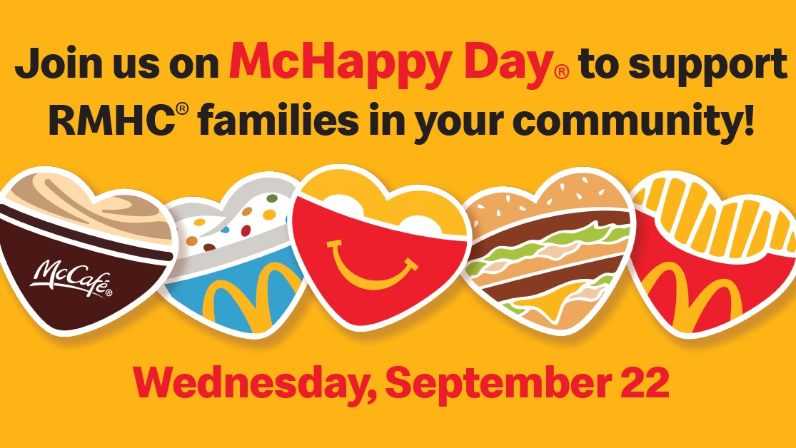 McHappy Day hearts and date