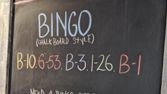 Chalkboard Bingo Crop